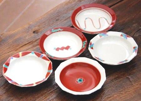 赤絵九谷豆皿
